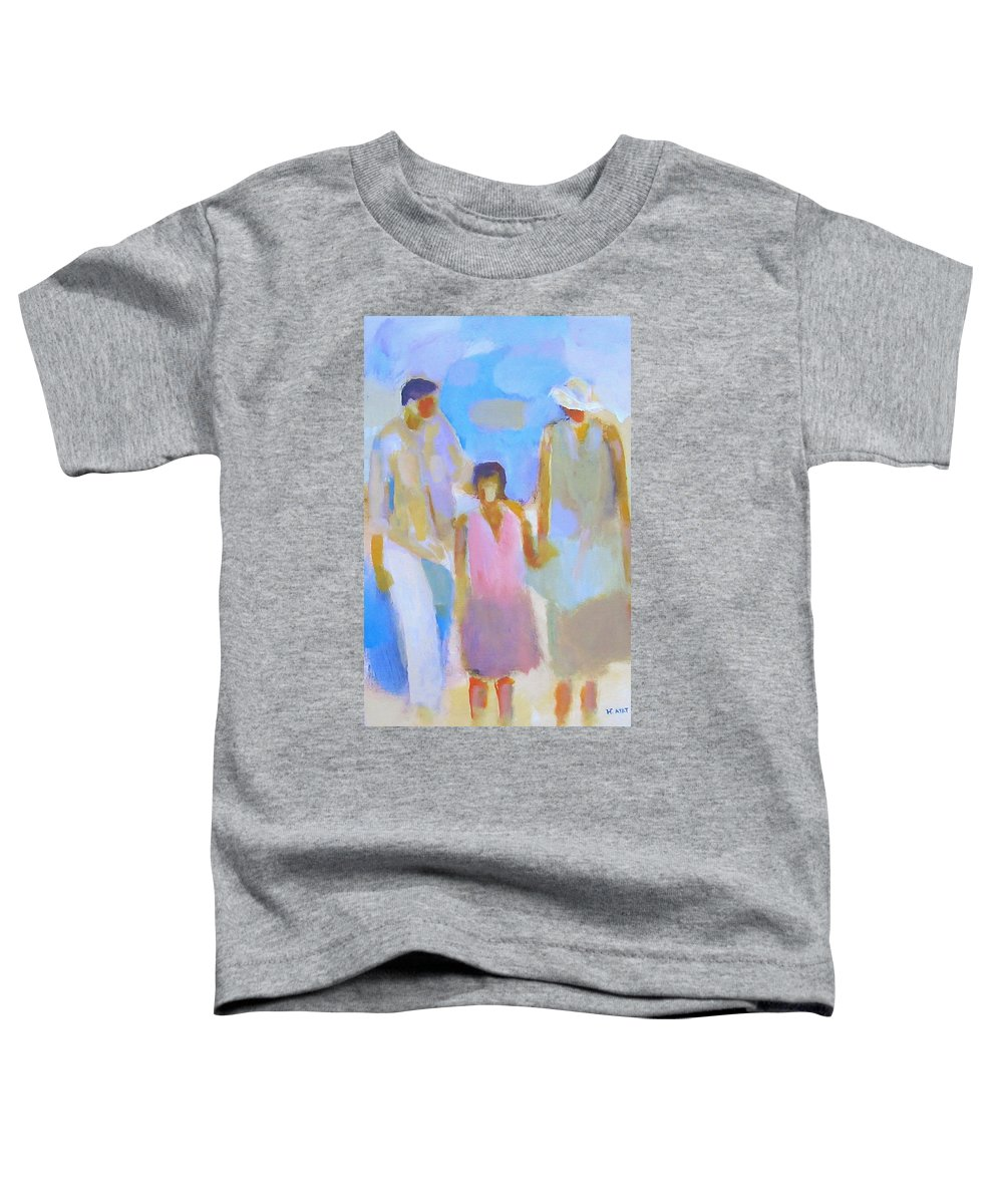 Abstract Toddler T-Shirt featuring the painting 3 With Love by Habib Ayat