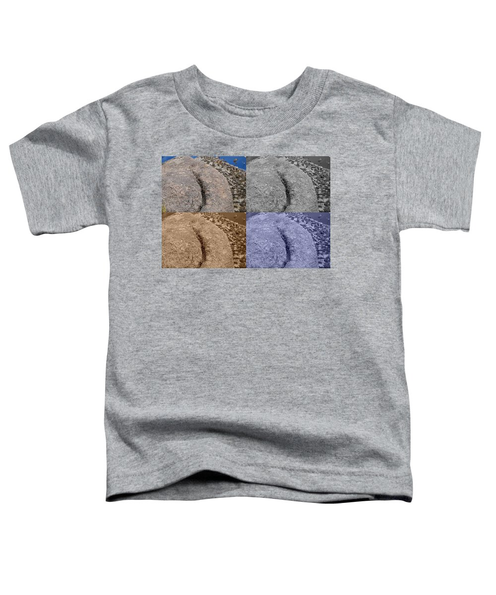 Sepia Toddler T-Shirt featuring the photograph 4 Crack Rocks New Mexico by Rob Hans