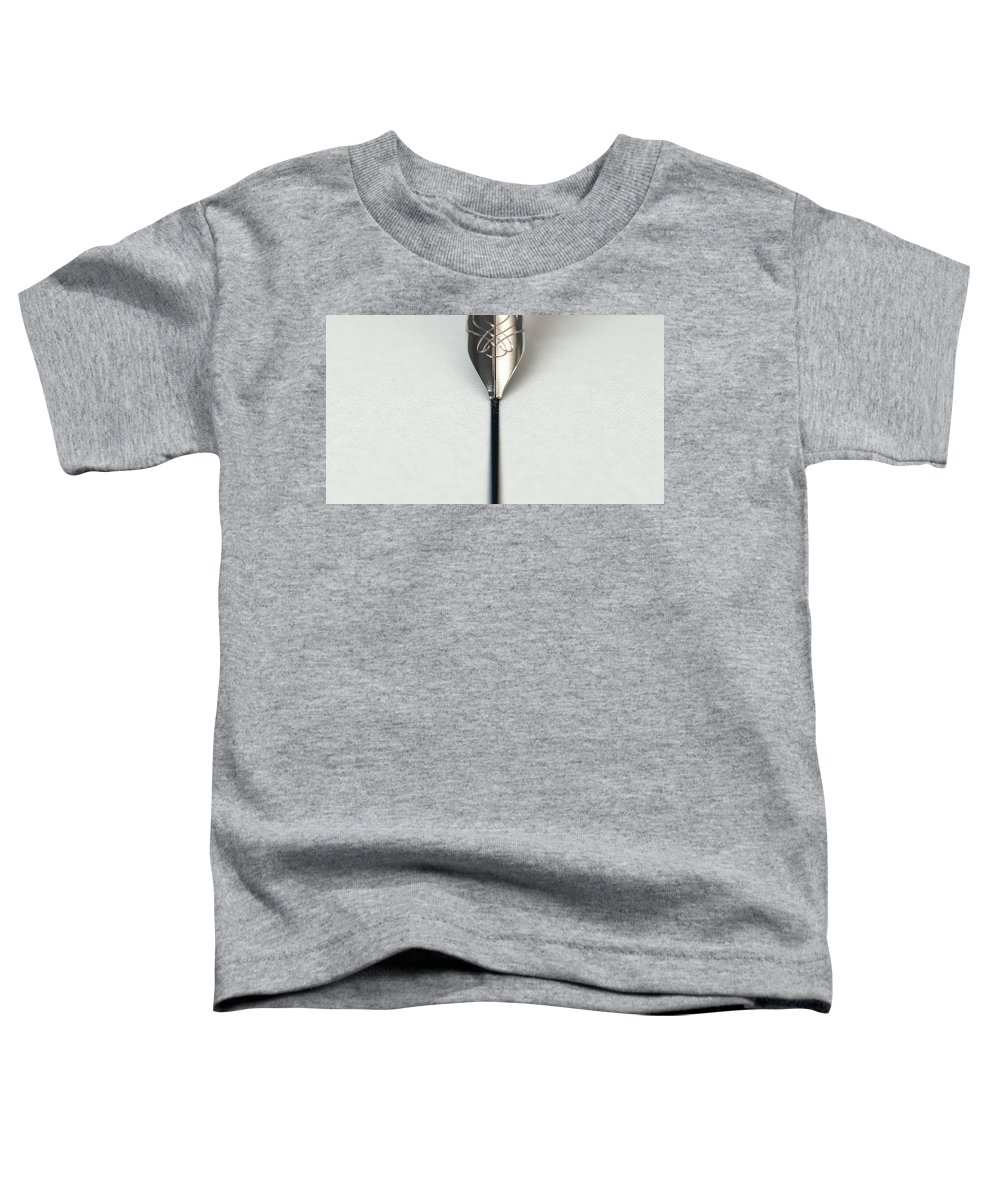 Pen Toddler T-Shirt featuring the digital art Fountain Pen Drawing Line by Allan Swart