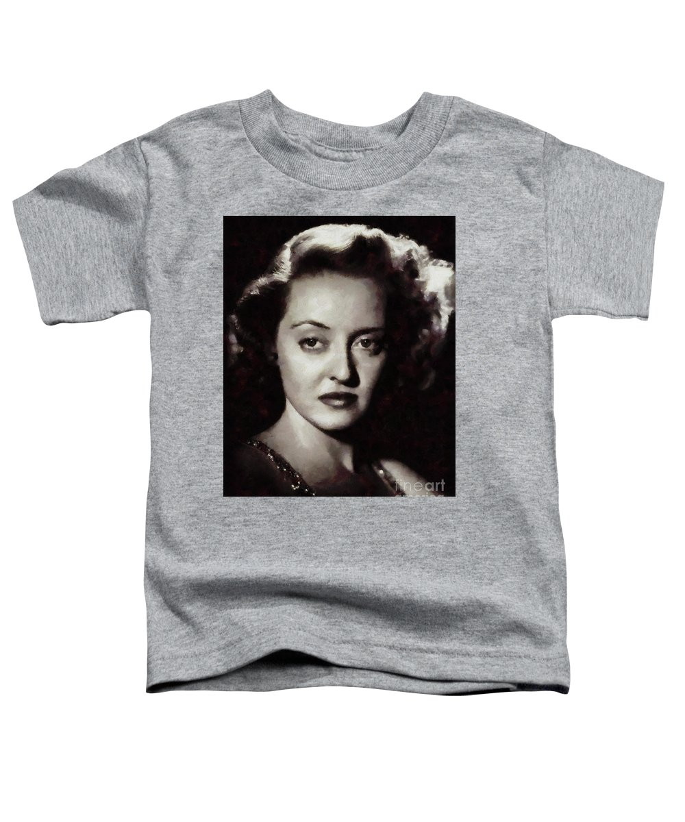 Bette Toddler T-Shirt featuring the painting Bette Davis Vintage Hollywood Actress by Mary Bassett