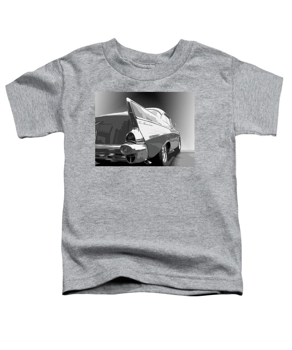 1957 Toddler T-Shirt featuring the photograph 57 Chevy Horizontal by Dick Goodman