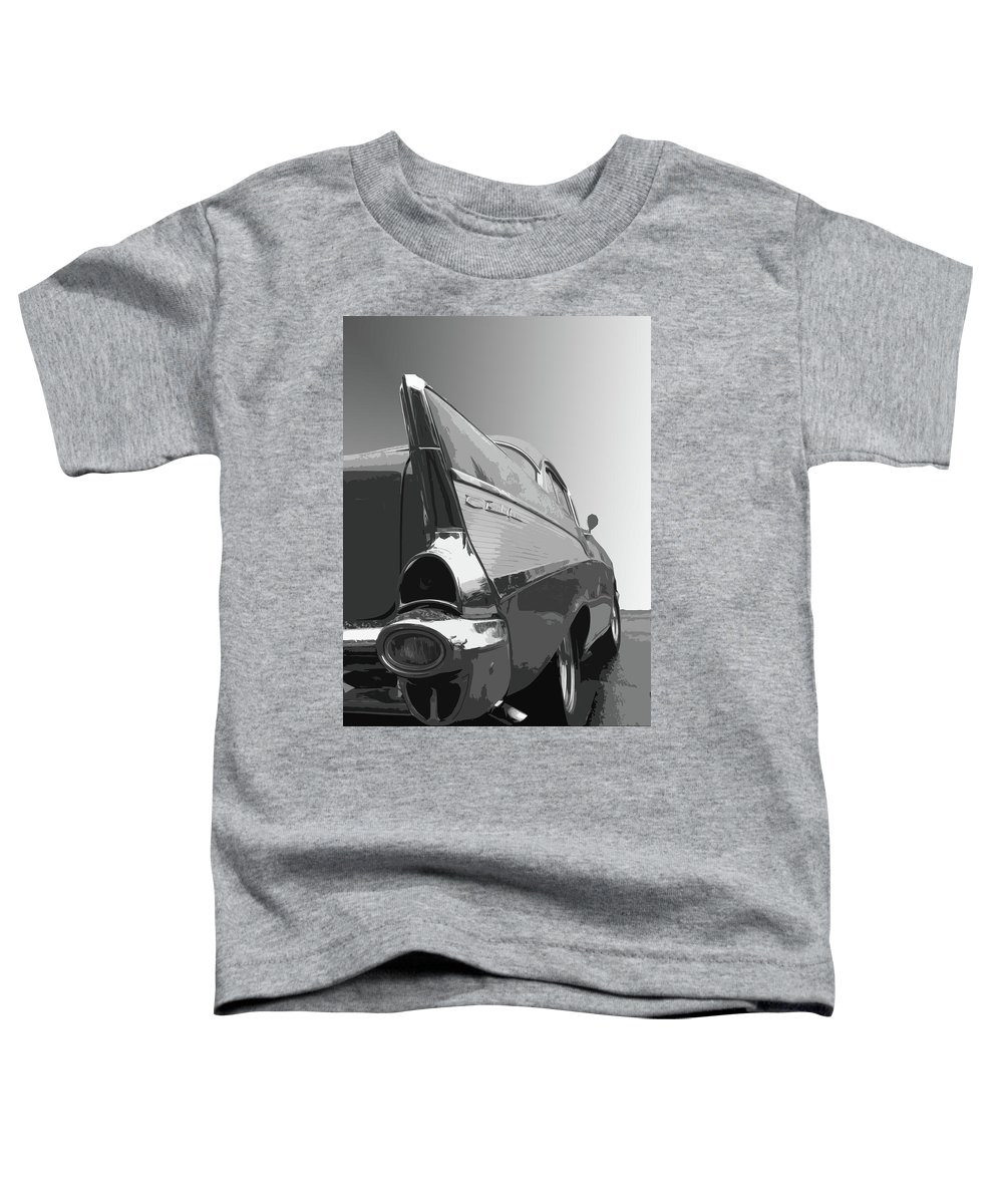 1957 Toddler T-Shirt featuring the photograph 57 Chevy Verticle by Dick Goodman