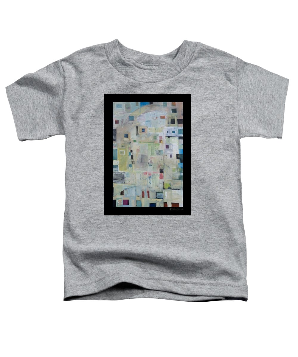 Abstract Toddler T-Shirt featuring the painting 7am In The City That Doesn by Tim Nyberg