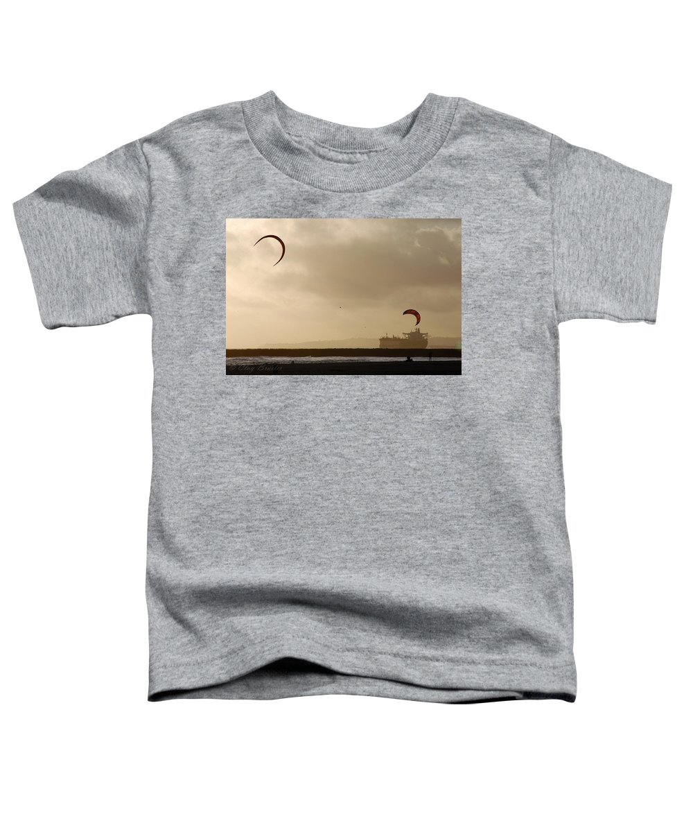 Clay Toddler T-Shirt featuring the photograph A Day At The Beach by Clayton Bruster