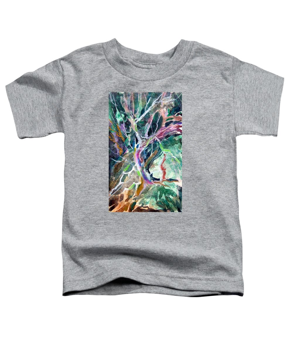 Tree Toddler T-Shirt featuring the painting A Dying Tree by Mindy Newman
