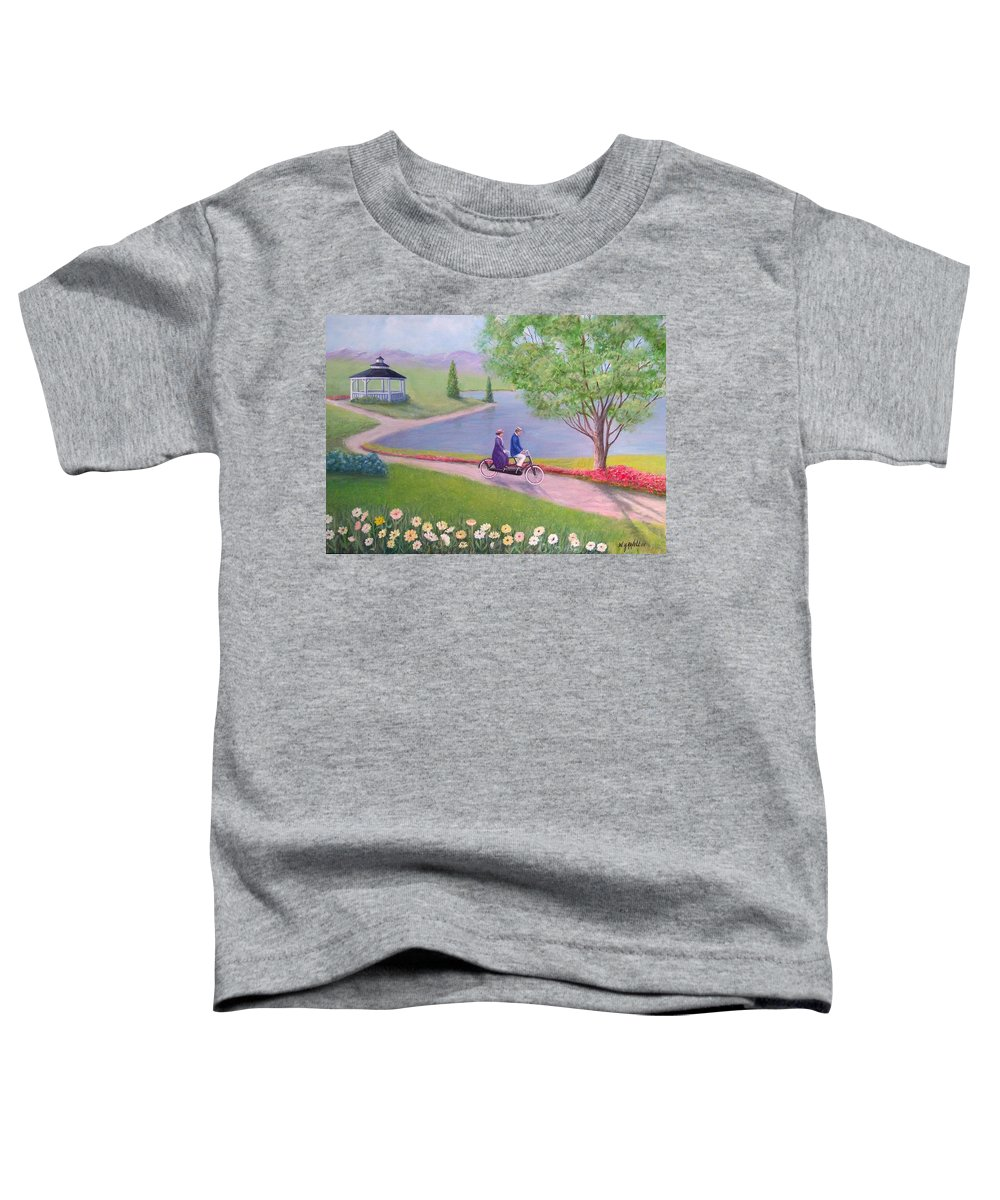 Landscape Toddler T-Shirt featuring the painting A Ride In The Park by William H RaVell III