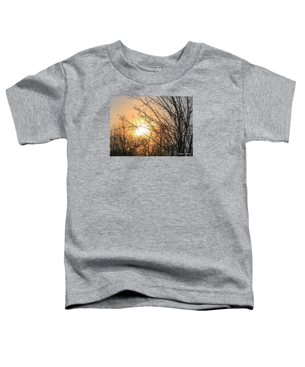 Sun Toddler T-Shirt featuring the photograph A Winter's Day After Glow by J R Seymour