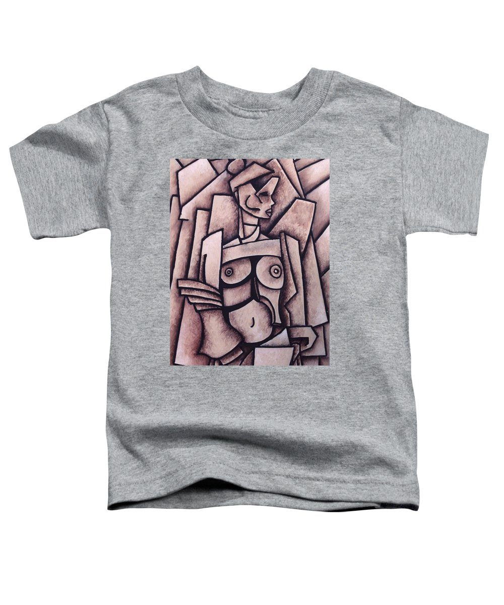 Absract Toddler T-Shirt featuring the painting Absract Girl by Thomas Valentine