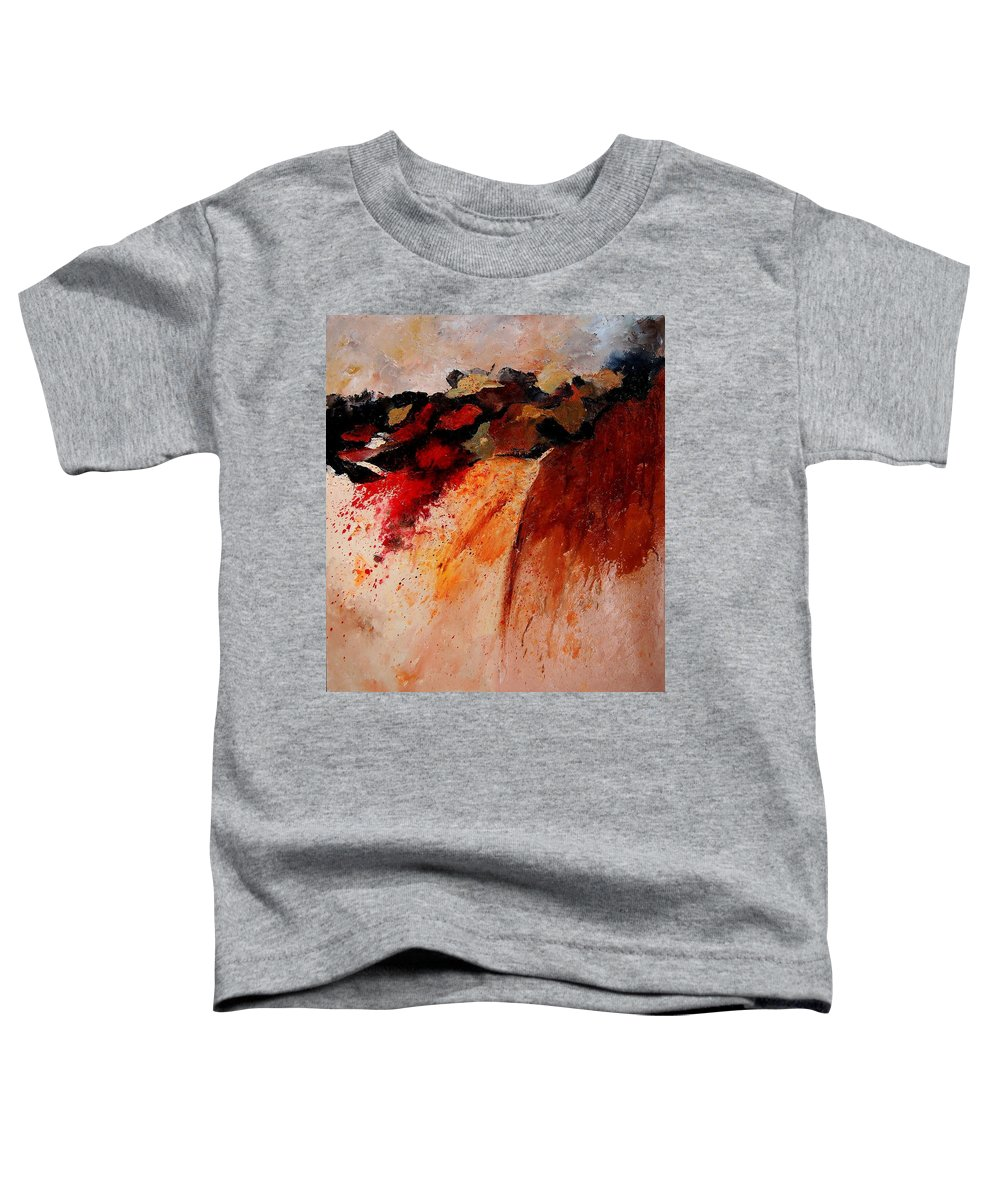 Abstract Toddler T-Shirt featuring the painting Abstract 010607 by Pol Ledent