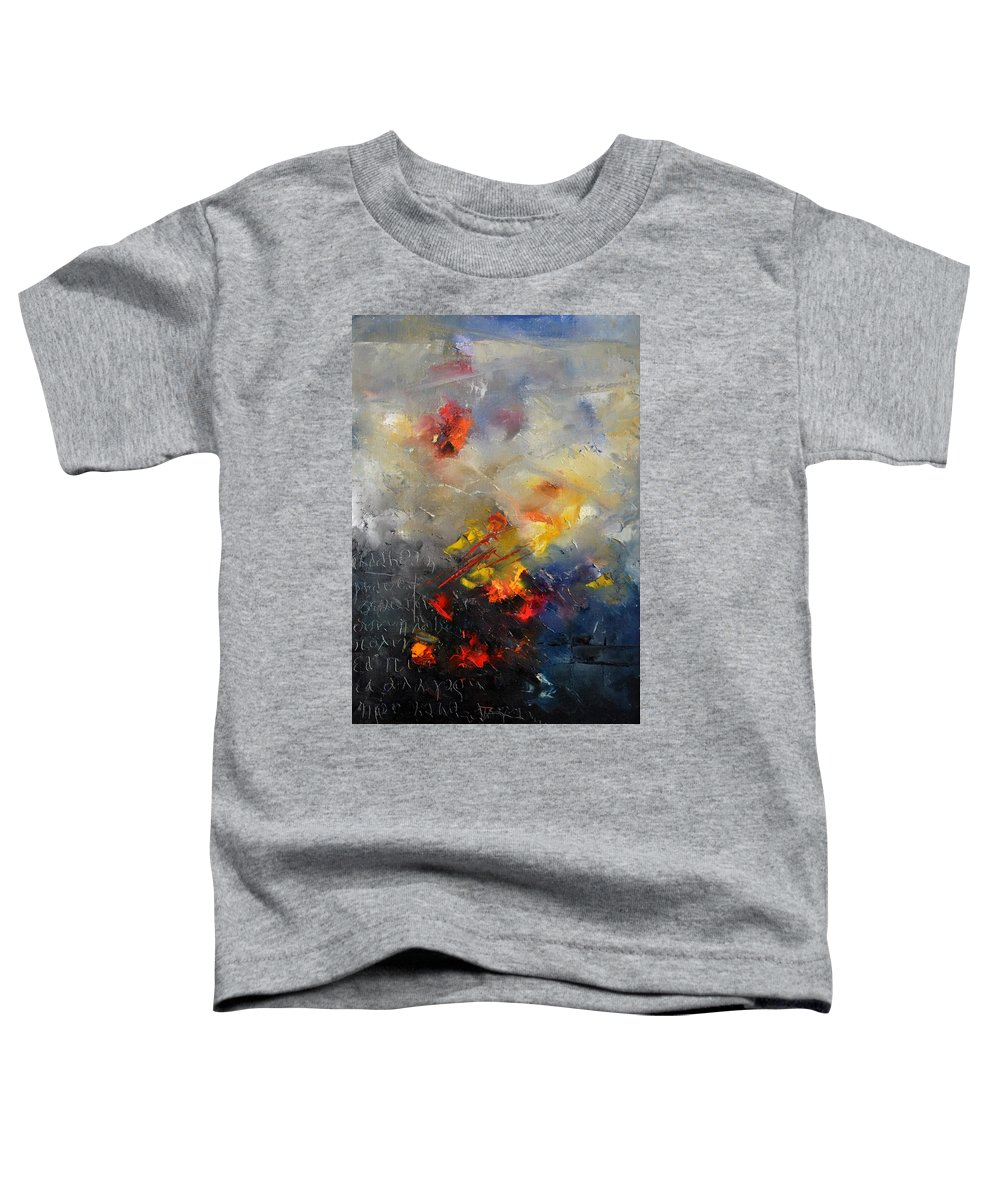 Abstract Toddler T-Shirt featuring the painting Abstract 0805 by Pol Ledent