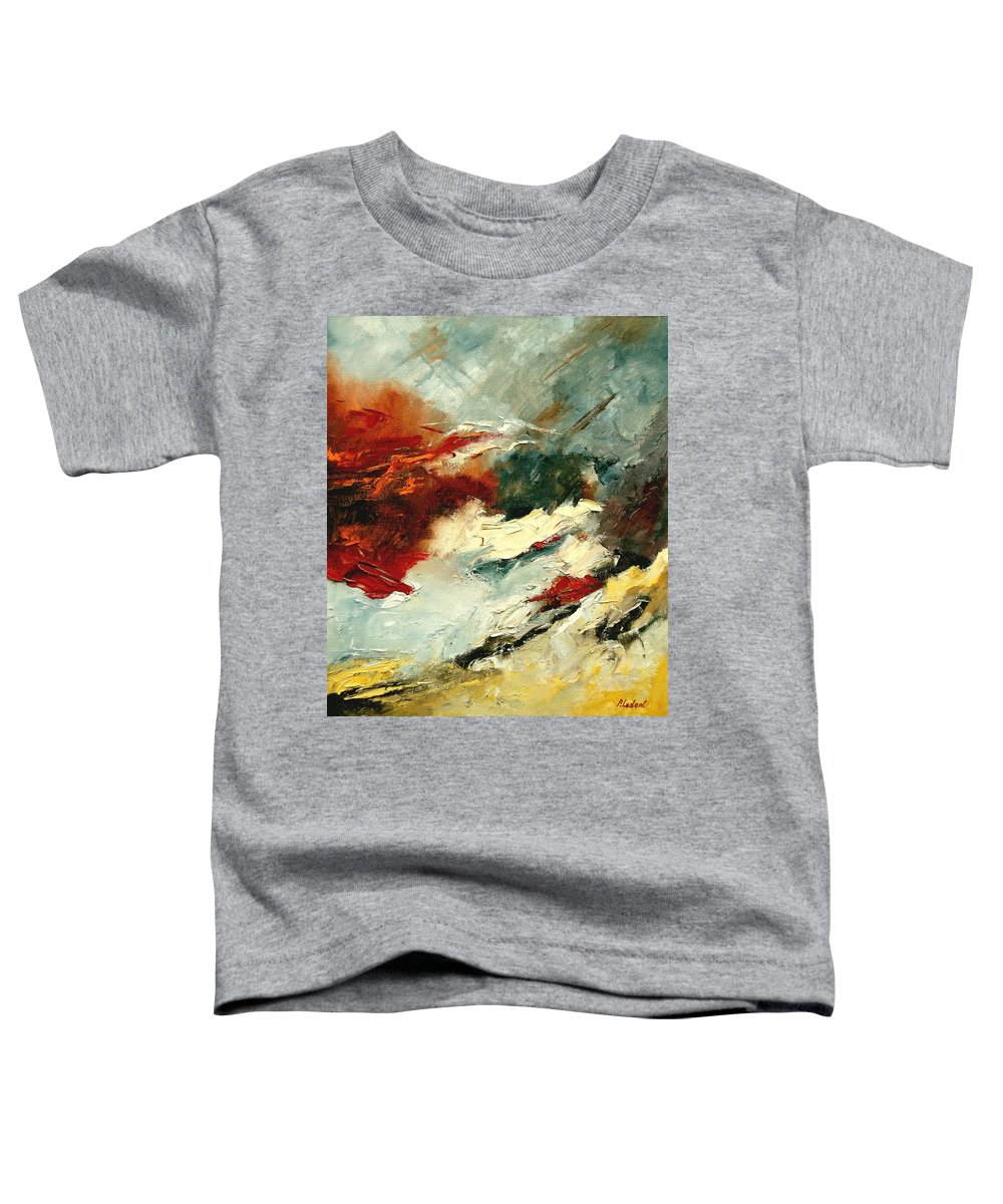 Abstract Toddler T-Shirt featuring the painting Abstract 9 by Pol Ledent