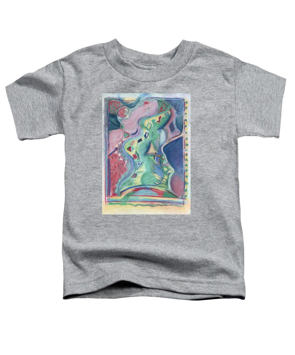 Abstract Toddler T-Shirt featuring the painting Abstract 92 - Inner Landscape by Kerryn Madsen- Pietsch