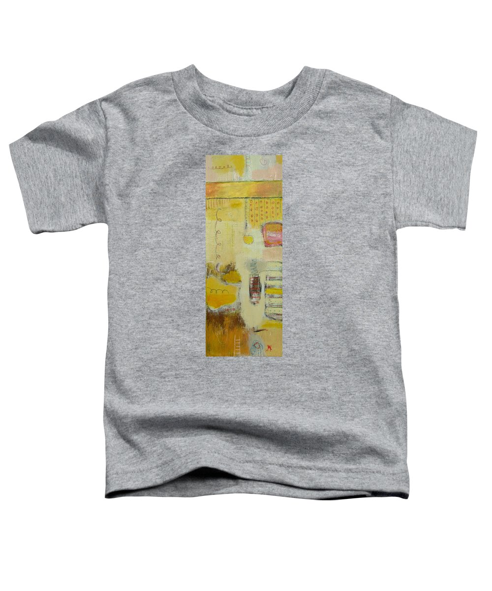 Abstract Toddler T-Shirt featuring the painting Abstract Life 1 by Habib Ayat