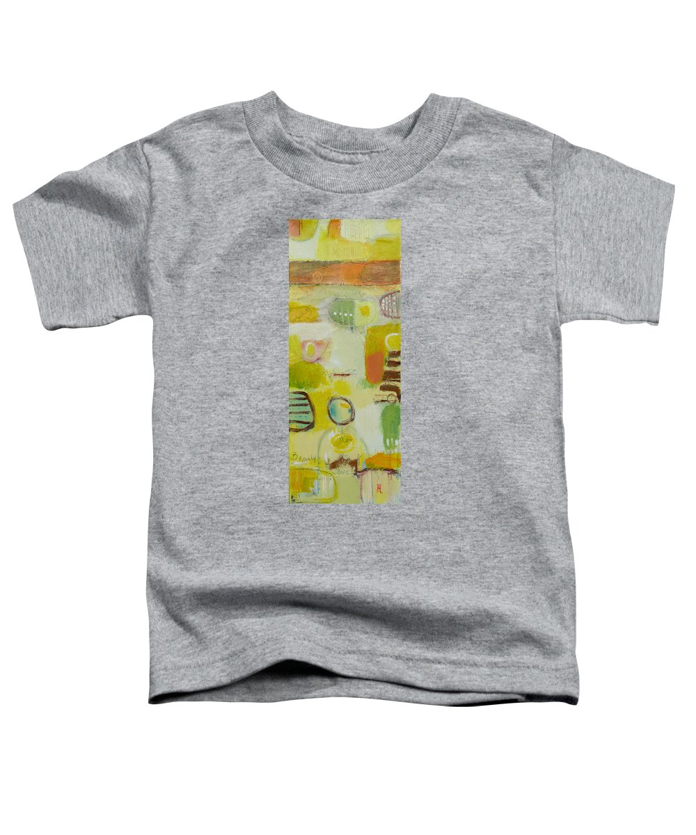 Toddler T-Shirt featuring the painting Abstract Life 2 by Habib Ayat