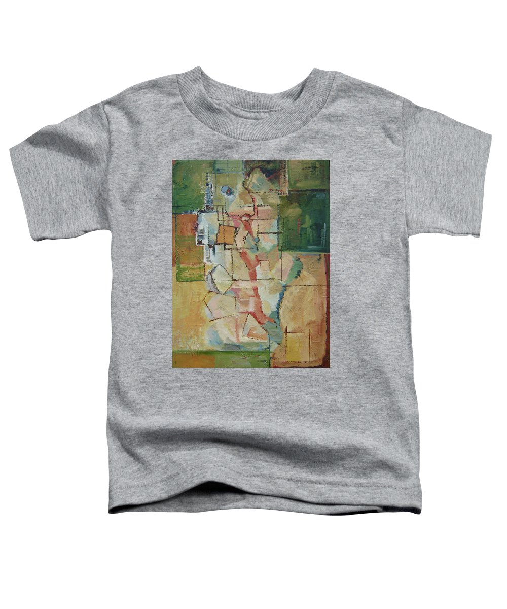 Abstract Art Toddler T-Shirt featuring the painting Aerial by Ginger Concepcion