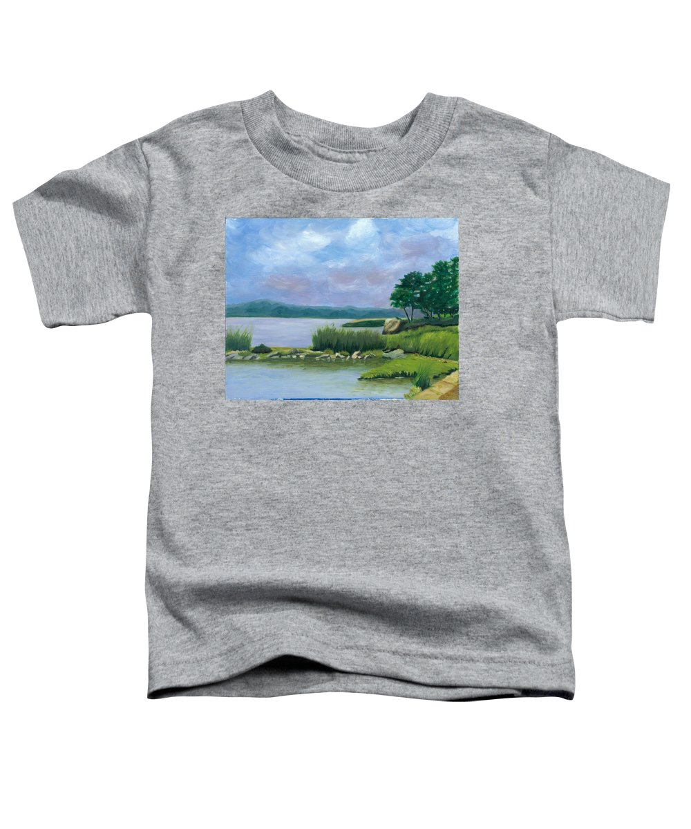 Seascape Toddler T-Shirt featuring the painting Afternoon At Pilgrim by Paula Emery