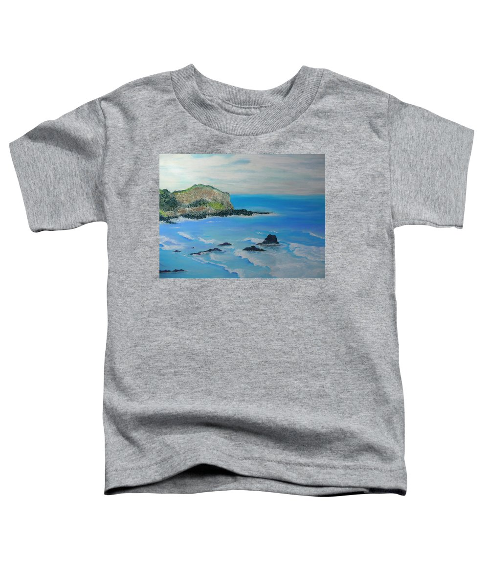 Hawaii Toddler T-Shirt featuring the painting Aloha by Melinda Etzold