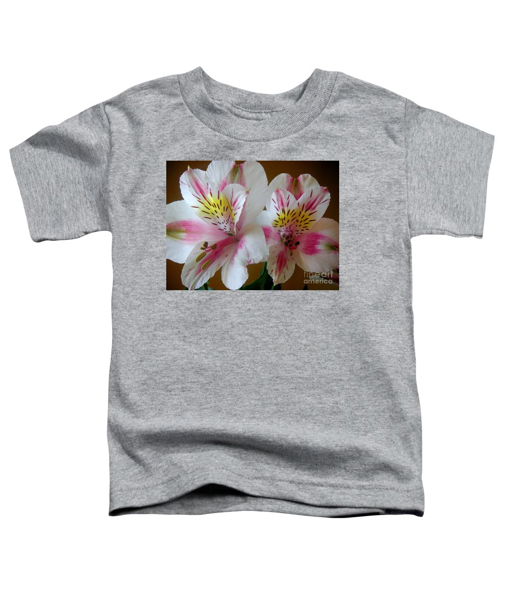 Nature Toddler T-Shirt featuring the photograph Alstroemerias - Heralding by Lucyna A M Green