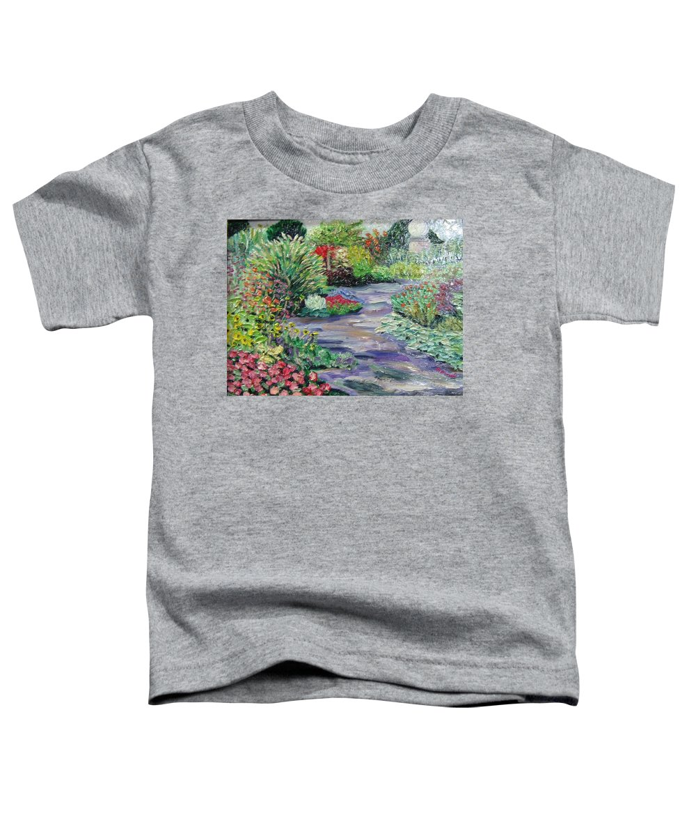 Park Toddler T-Shirt featuring the painting Amelia Park Blossoms by Richard Nowak