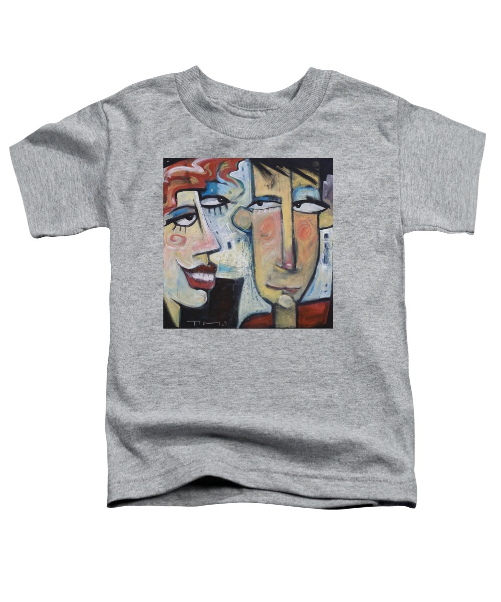 Man Toddler T-Shirt featuring the painting An Uncomfortable Attraction by Tim Nyberg