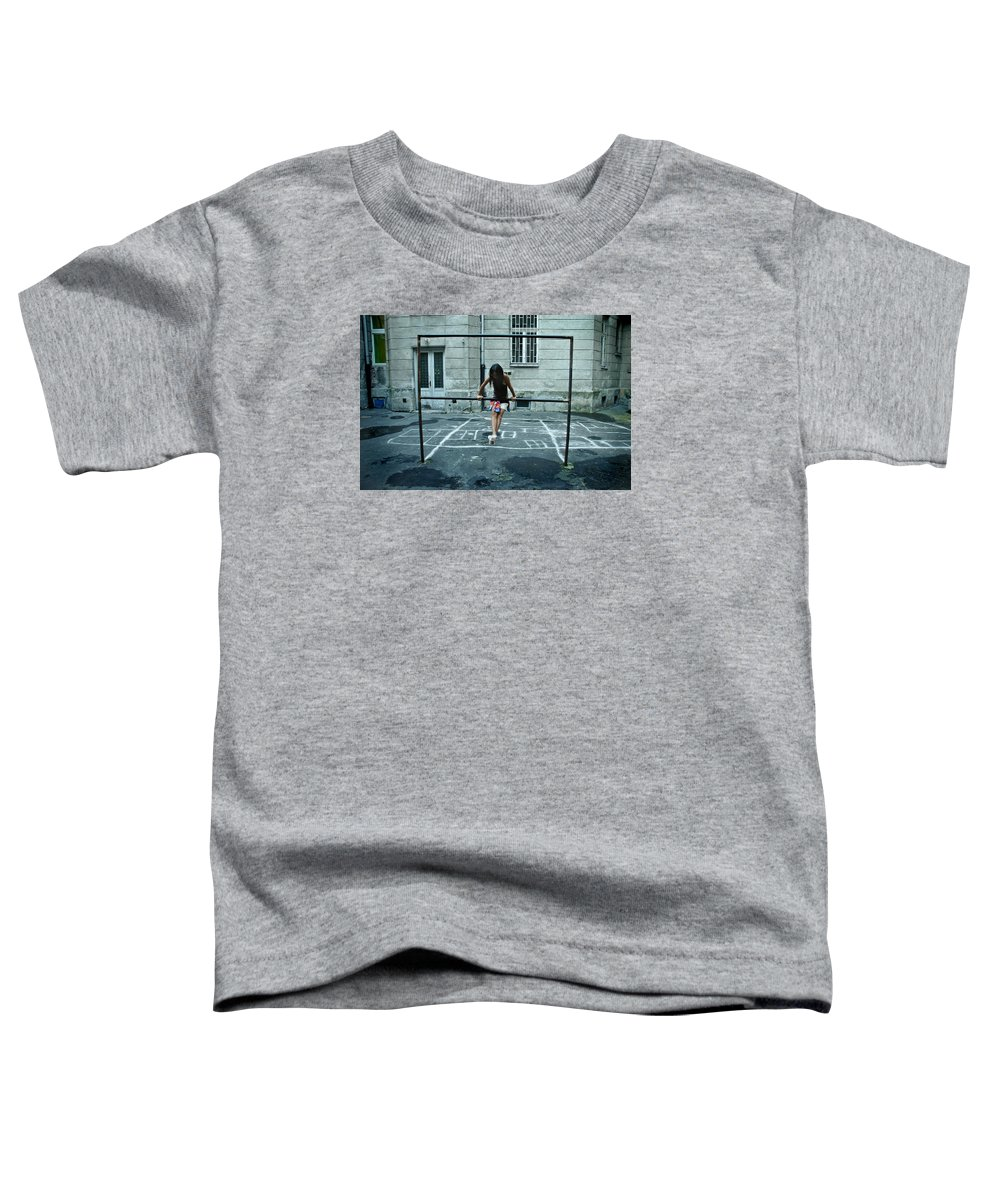 Children Toddler T-Shirt featuring the photograph Ana At The Barre by Michael Ziegler