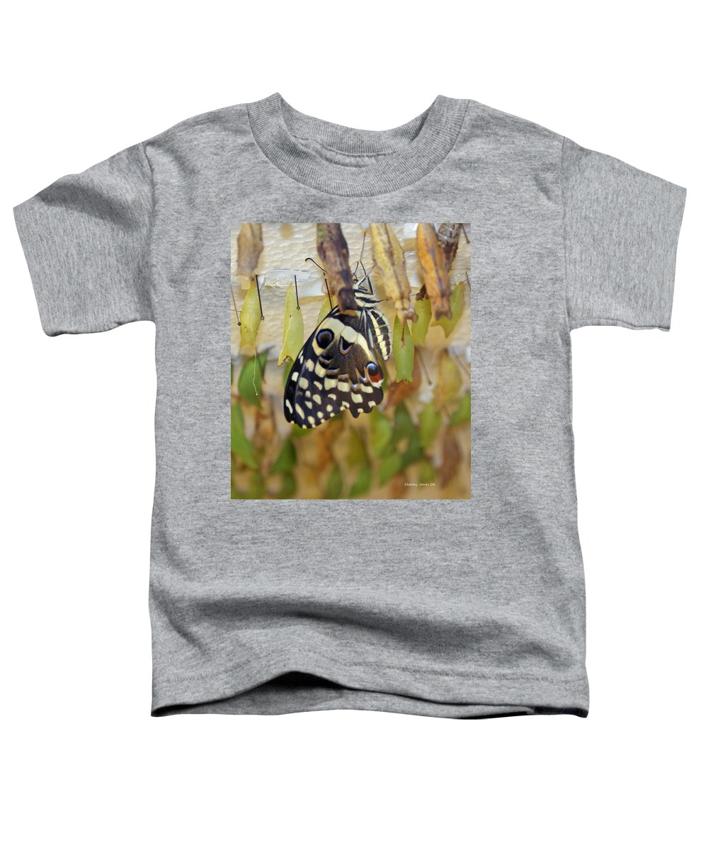 Butterfly Toddler T-Shirt featuring the photograph And Life Begins by Shelley Jones