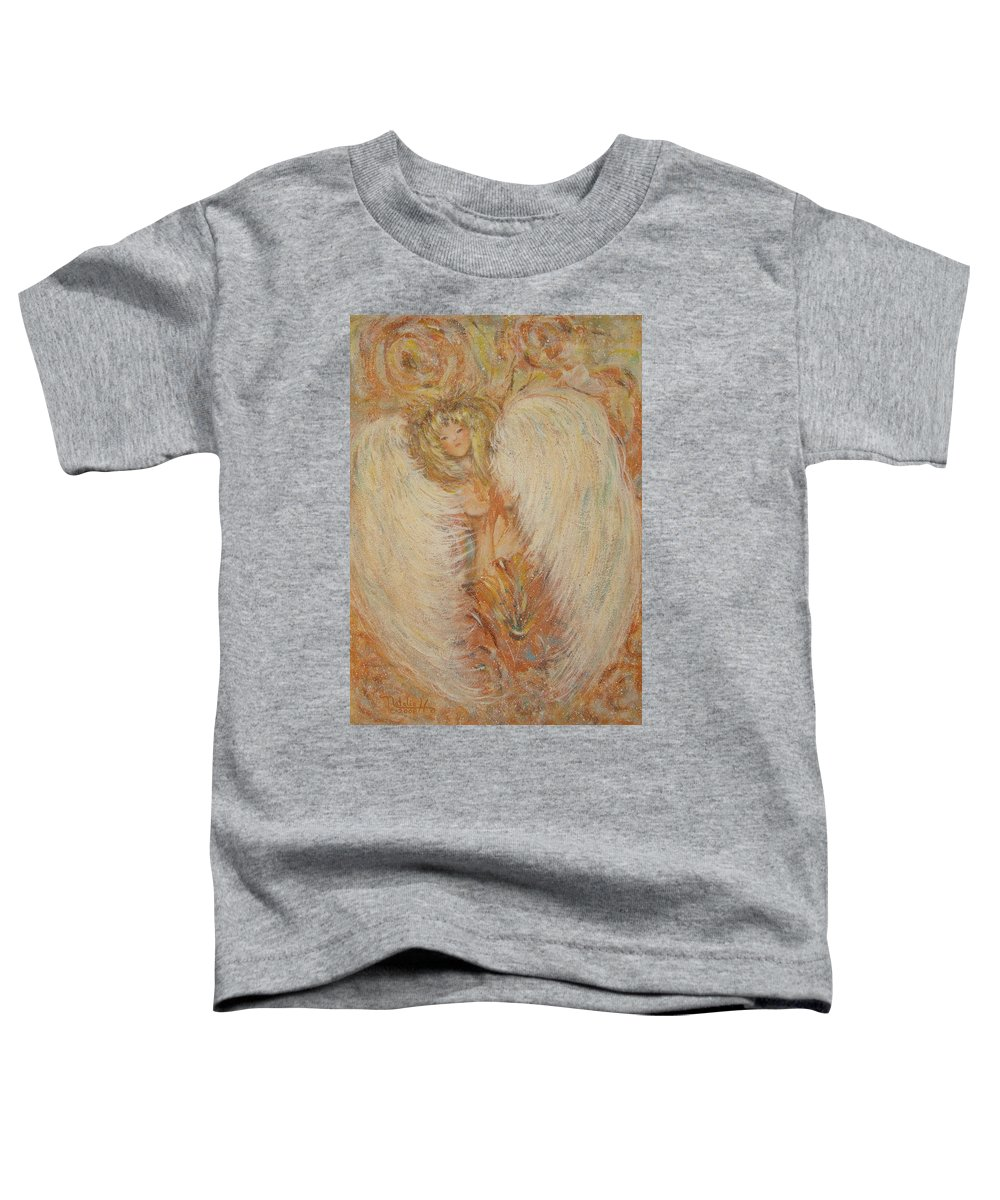 Angel Toddler T-Shirt featuring the painting Angel Loves You by Natalie Holland