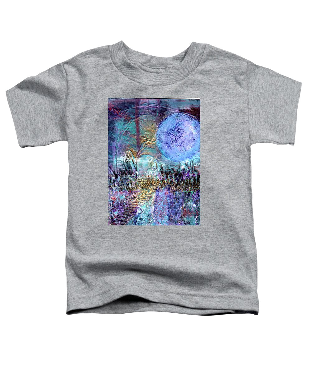 Surreal Toddler T-Shirt featuring the painting Another World by Wayne Potrafka