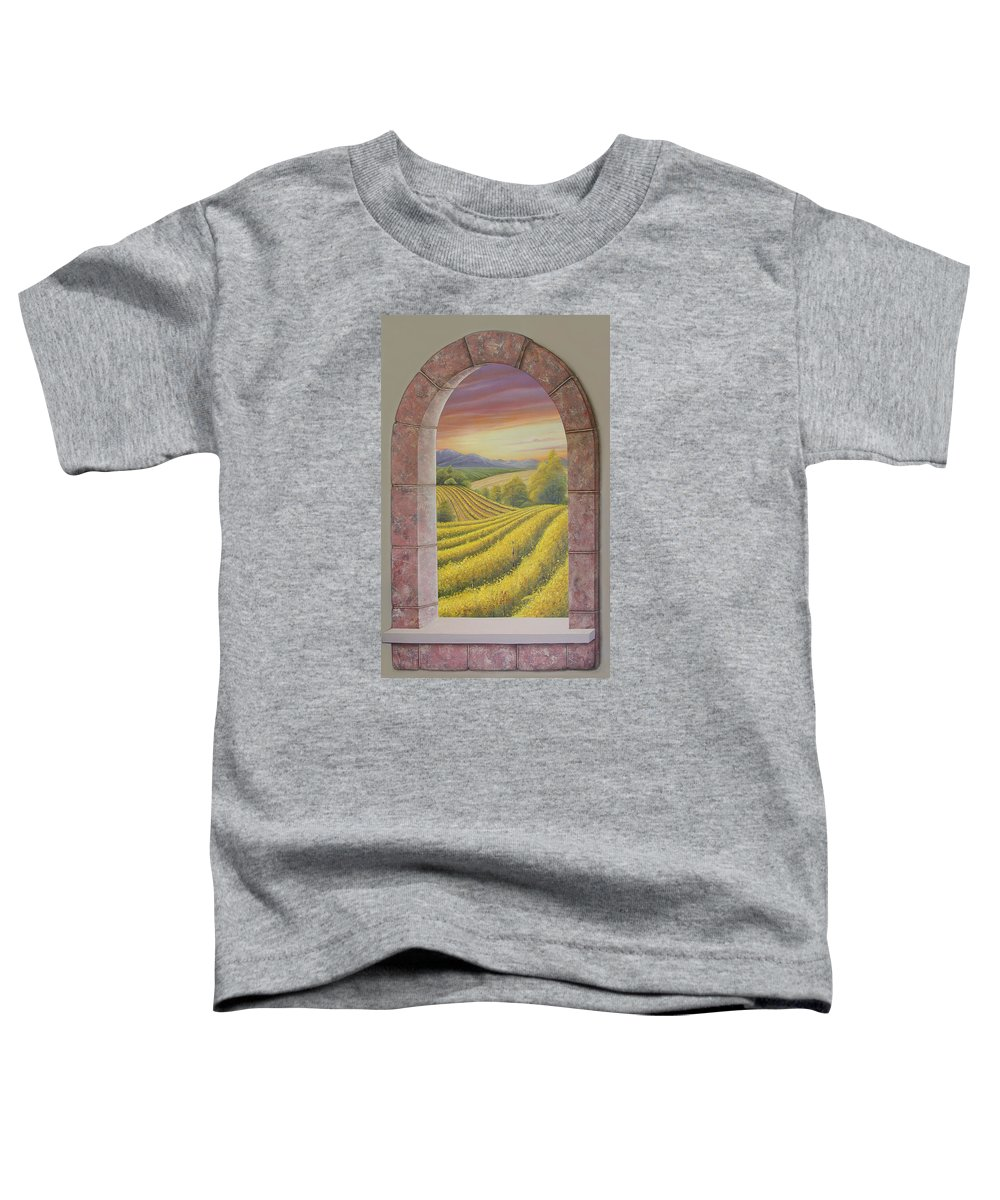 Realistic Toddler T-Shirt featuring the painting Arco Vinal by Angel Ortiz