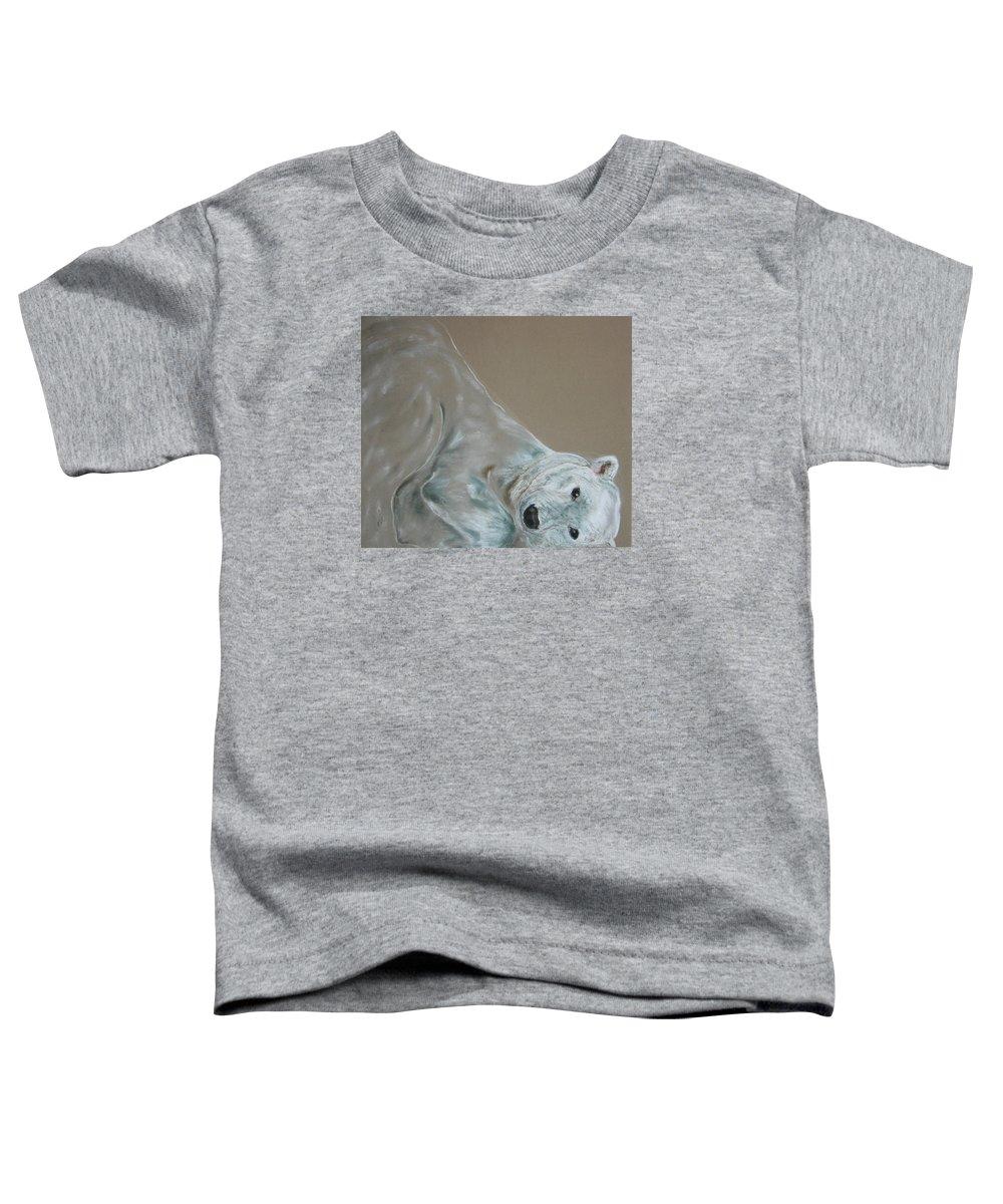 Polar Bear Toddler T-Shirt featuring the drawing Arctic Frolic by Cori Solomon