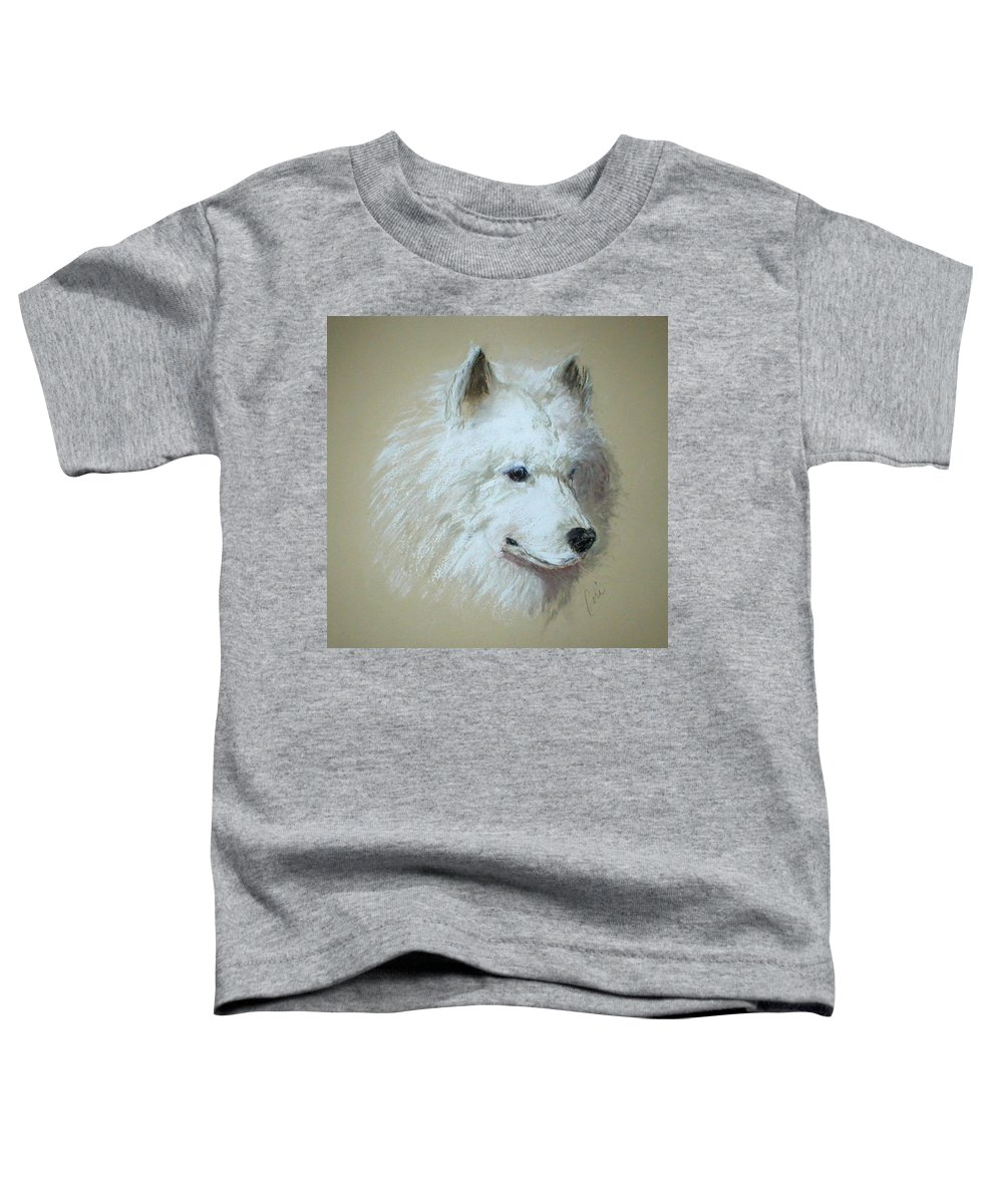 Dog Toddler T-Shirt featuring the drawing Arctic Serenity by Cori Solomon