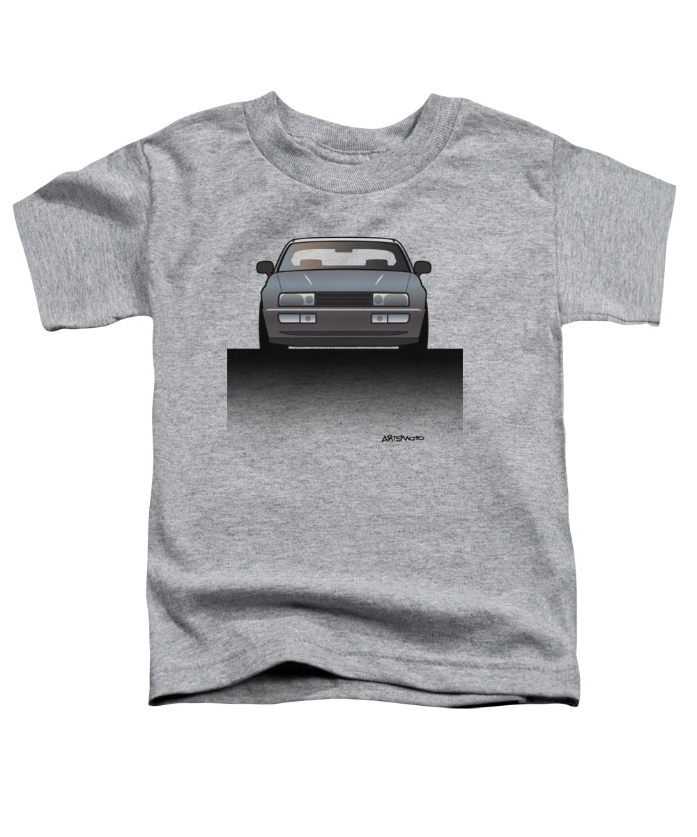Car Toddler T-Shirt featuring the digital art Modern Euro Icons Series Vw Corrado Vr6 by Monkey Crisis On Mars