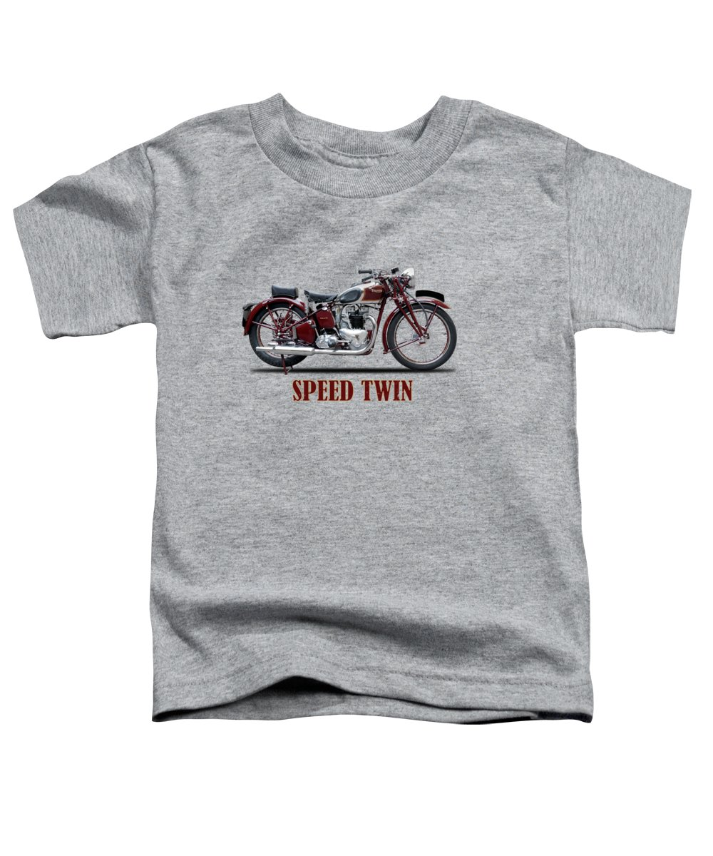 Triumph Speed Twin Toddler T-Shirt featuring the photograph Speed Twin 1939 by Mark Rogan