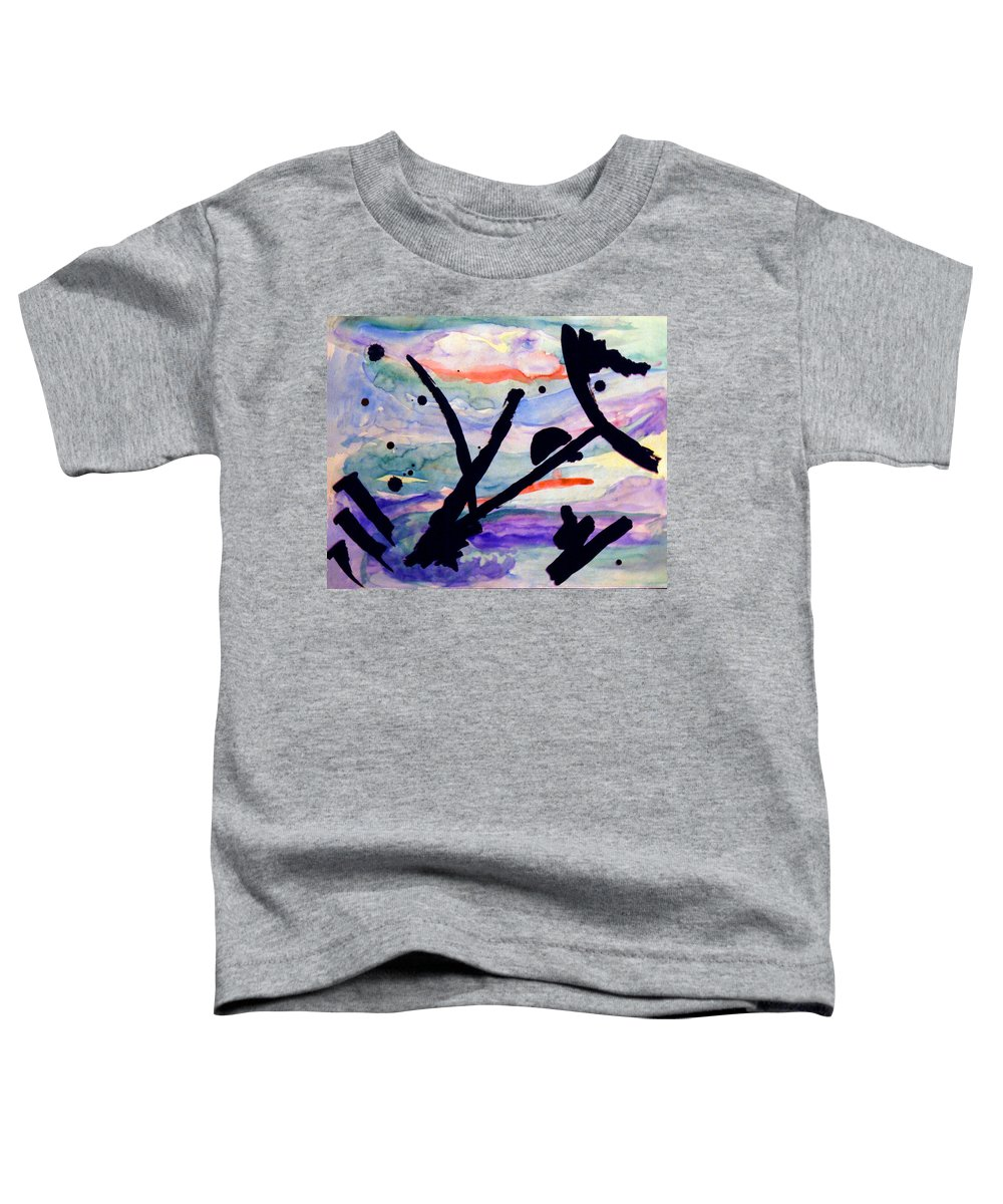 Abstract Toddler T-Shirt featuring the painting Asian Impression by Steve Karol