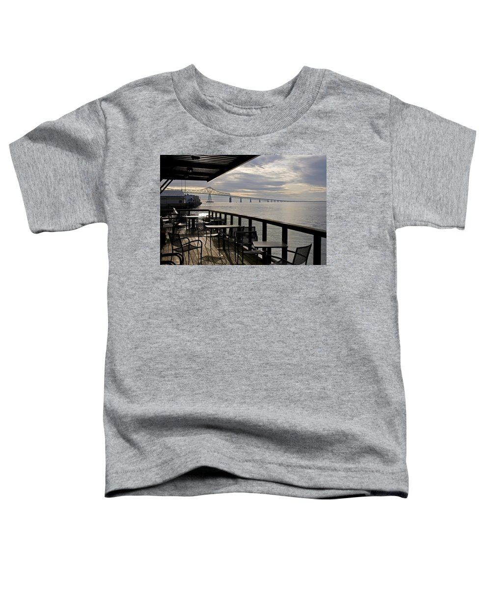 Scenic Toddler T-Shirt featuring the photograph Astoria by Lee Santa