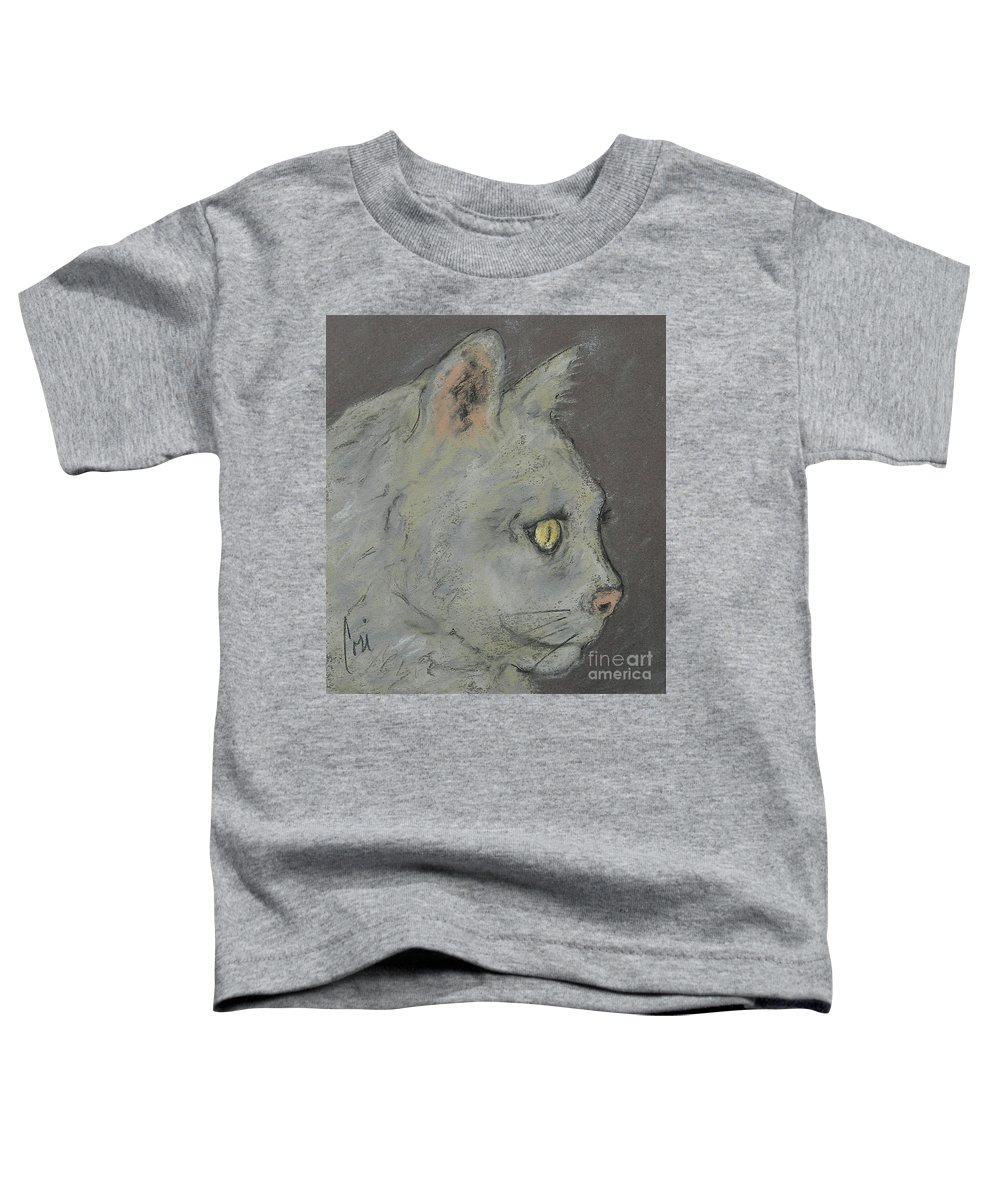 Pastels Toddler T-Shirt featuring the drawing At Peace by Cori Solomon