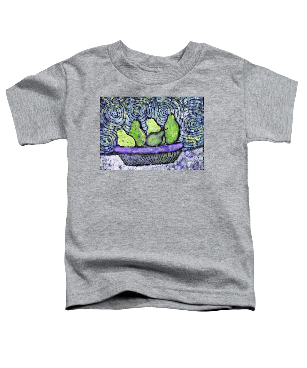 Food Toddler T-Shirt featuring the painting August Pears by Wayne Potrafka