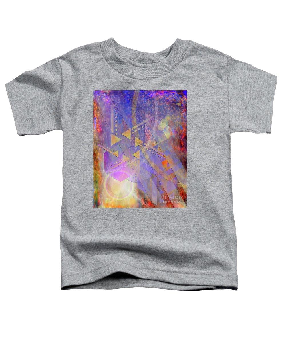 Aurora Aperture Toddler T-Shirt featuring the digital art Aurora Aperture by John Beck