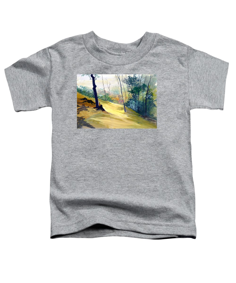 Landscape Toddler T-Shirt featuring the painting Balance by Anil Nene
