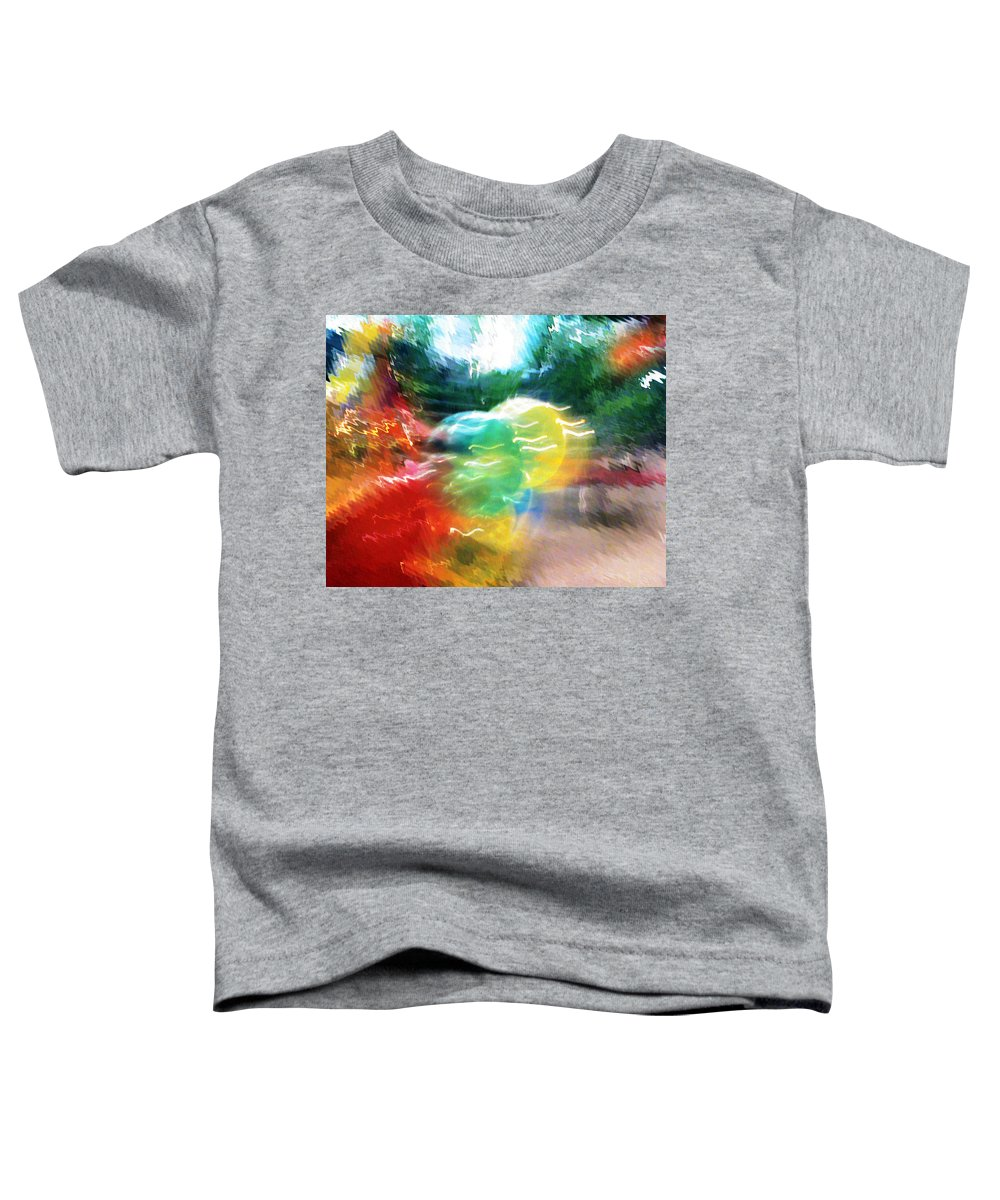 Baloons Toddler T-Shirt featuring the painting Baloons N Lights by Anil Nene