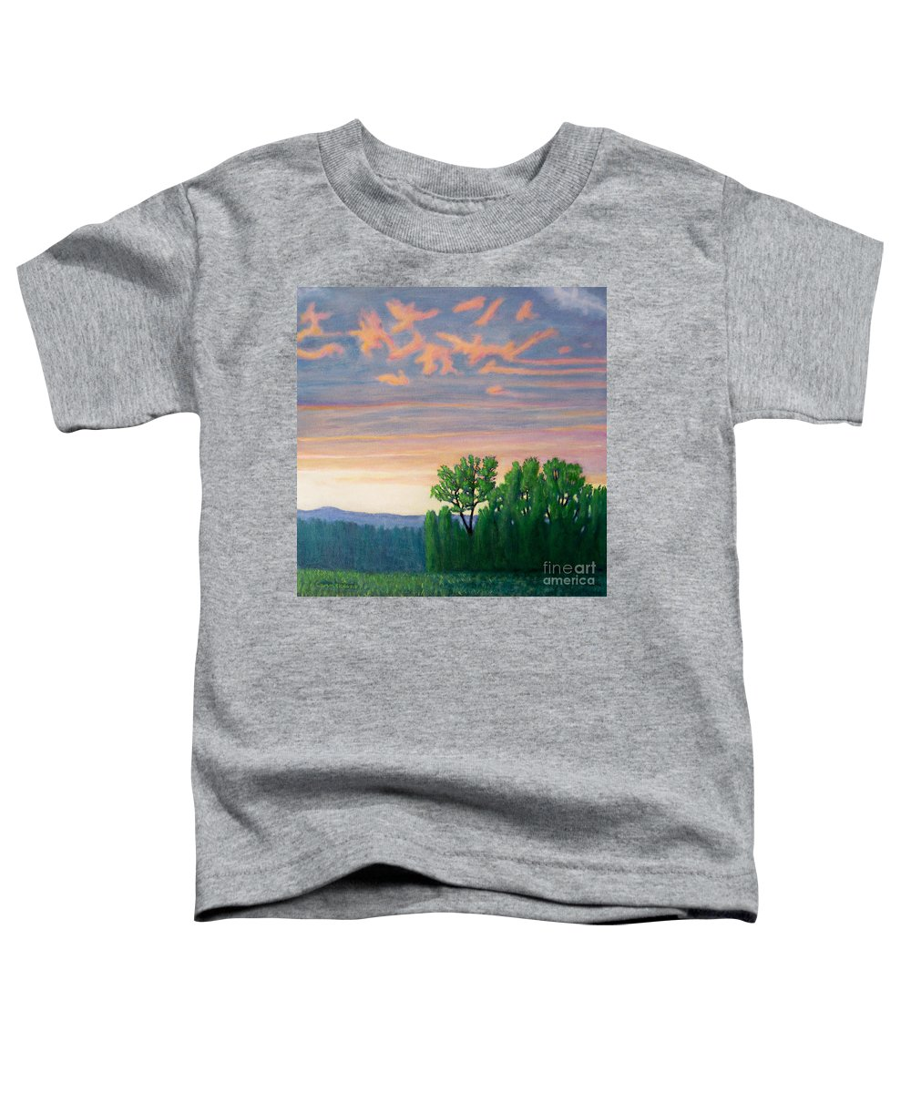Landscape Toddler T-Shirt featuring the painting Balsa Road by Brian Commerford