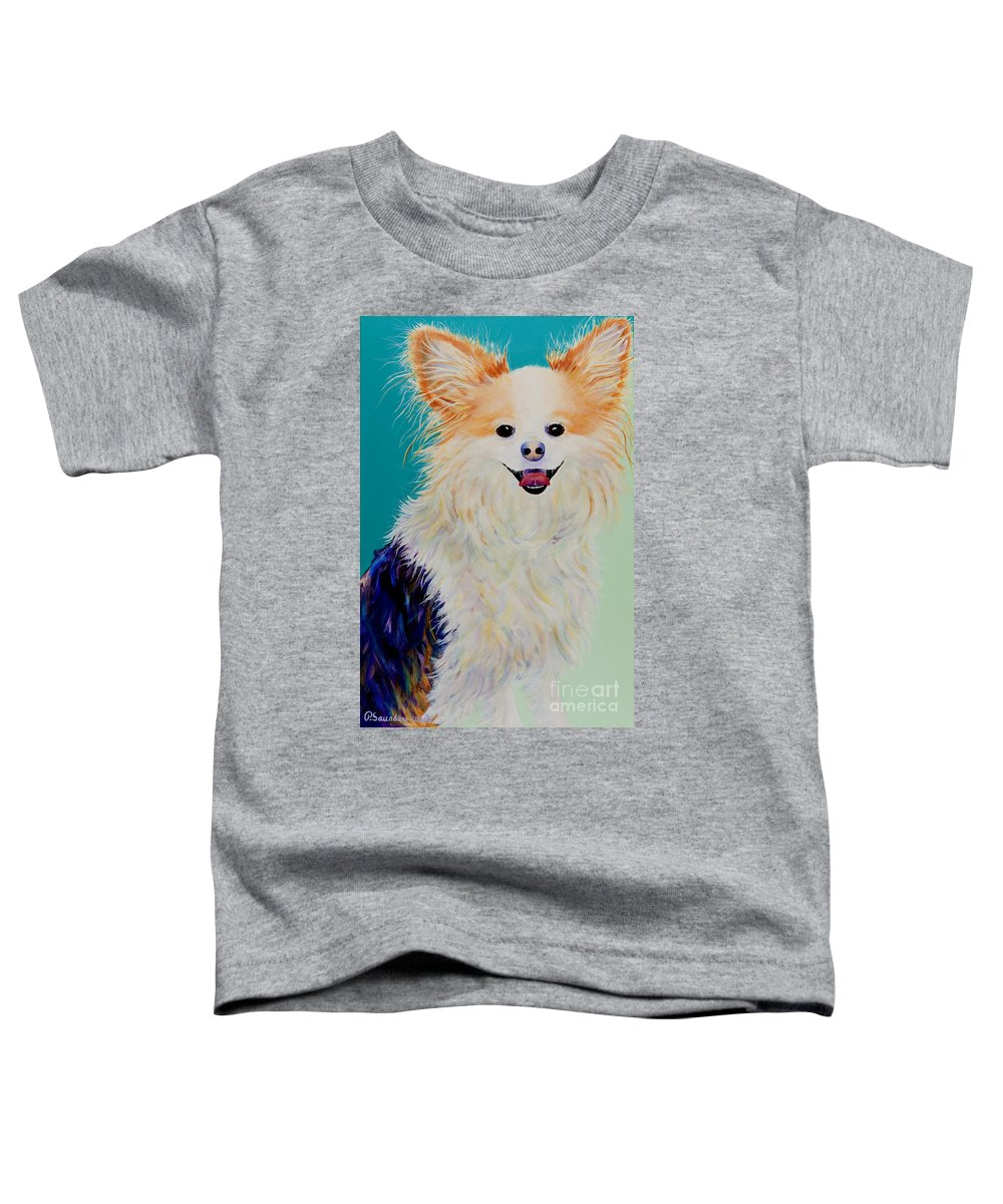 Animal Toddler T-Shirt featuring the painting Baxter by Pat Saunders-White