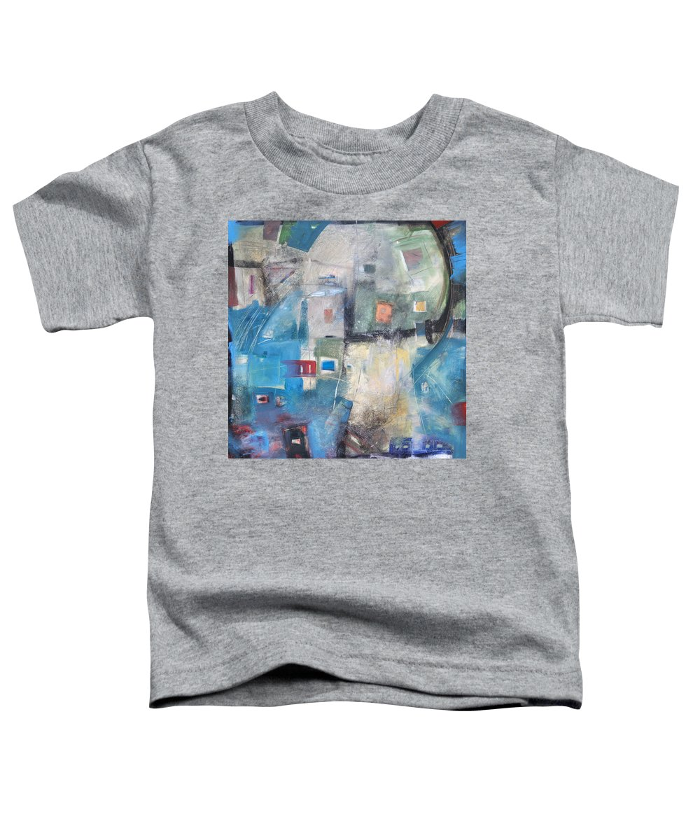 Abstract Toddler T-Shirt featuring the painting Bayer Works Wonders by Tim Nyberg