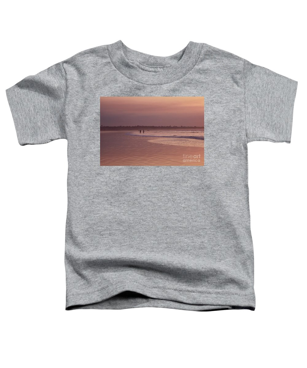 Ecuador Toddler T-Shirt featuring the photograph Beachcombers by Kathy McClure