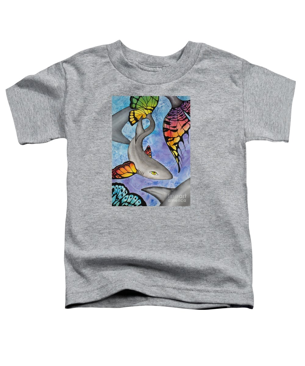 Surreal Toddler T-Shirt featuring the painting Beauty In The Beasts by Lucy Arnold