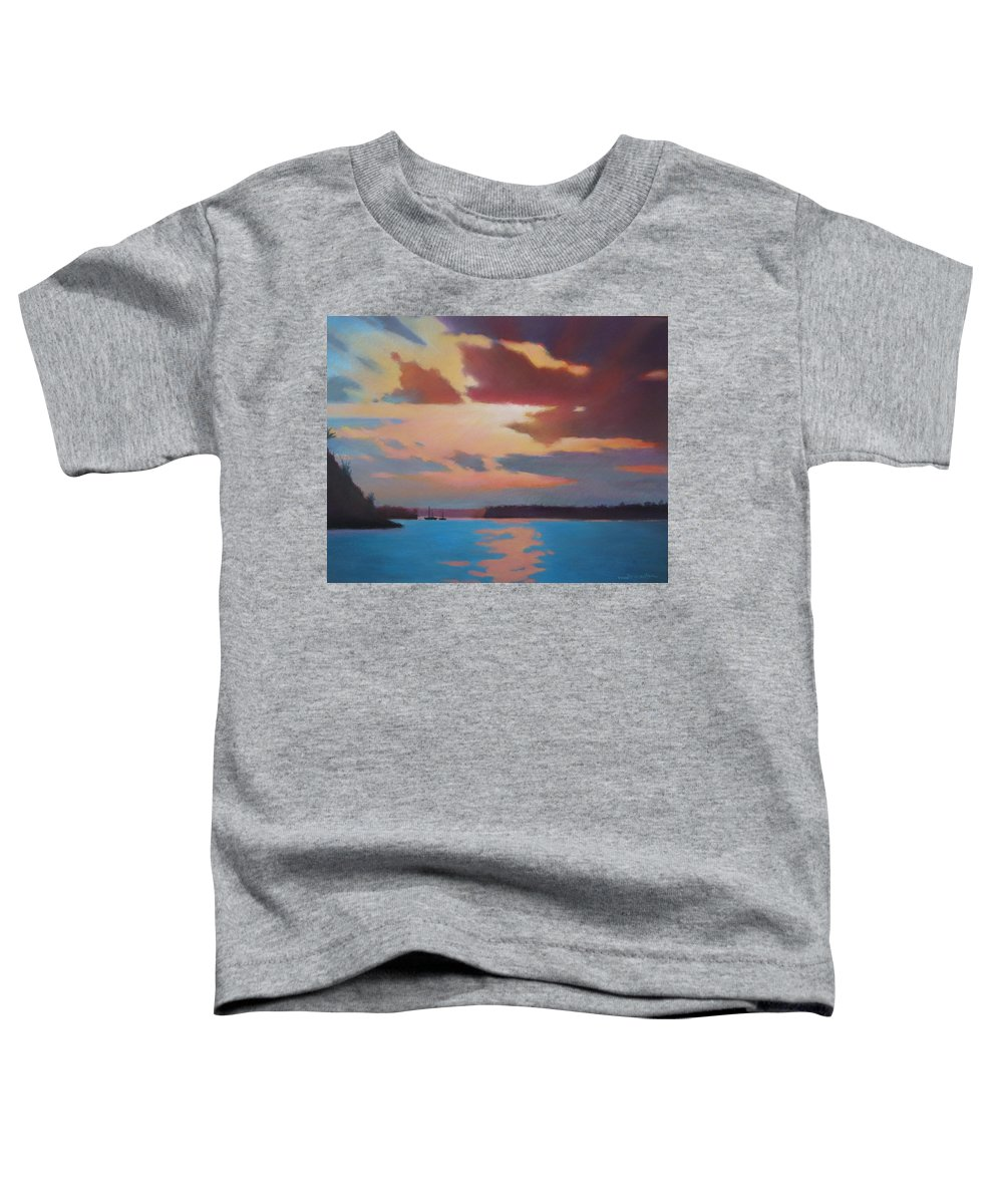Bermuda Seascape Toddler T-Shirt featuring the painting Bermuda Sunset by Dianne Panarelli Miller