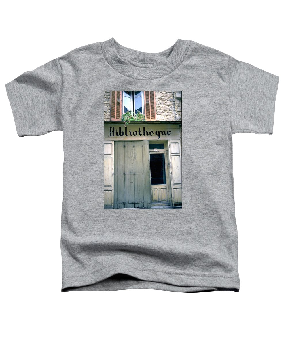 Bibliotheque Toddler T-Shirt featuring the photograph Bibliotheque by Flavia Westerwelle