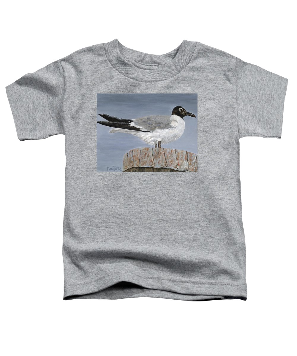Seagull Toddler T-Shirt featuring the painting Bimini Gull by Danielle Perry