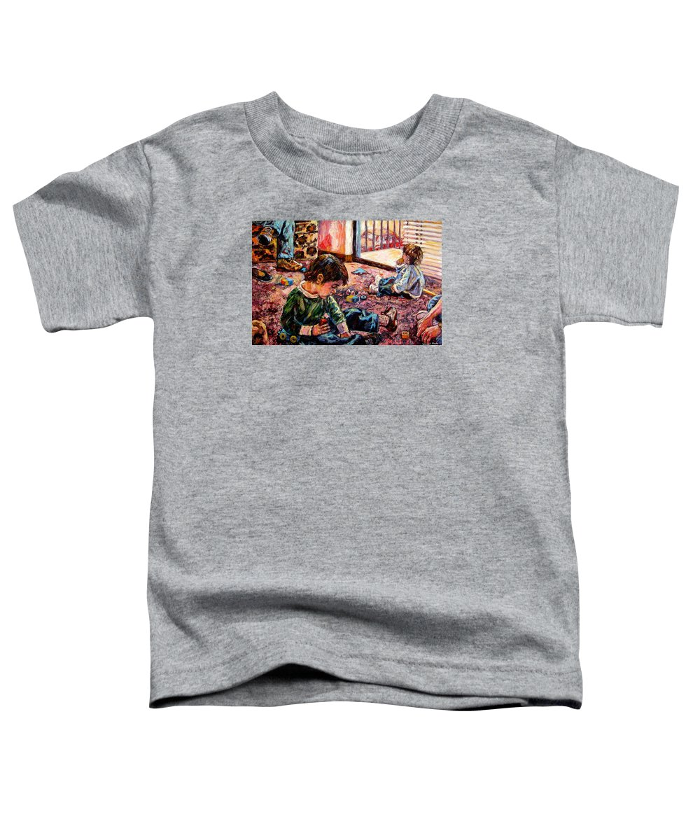 Figure Toddler T-Shirt featuring the painting Birthday Party Or A Childs View by Kendall Kessler