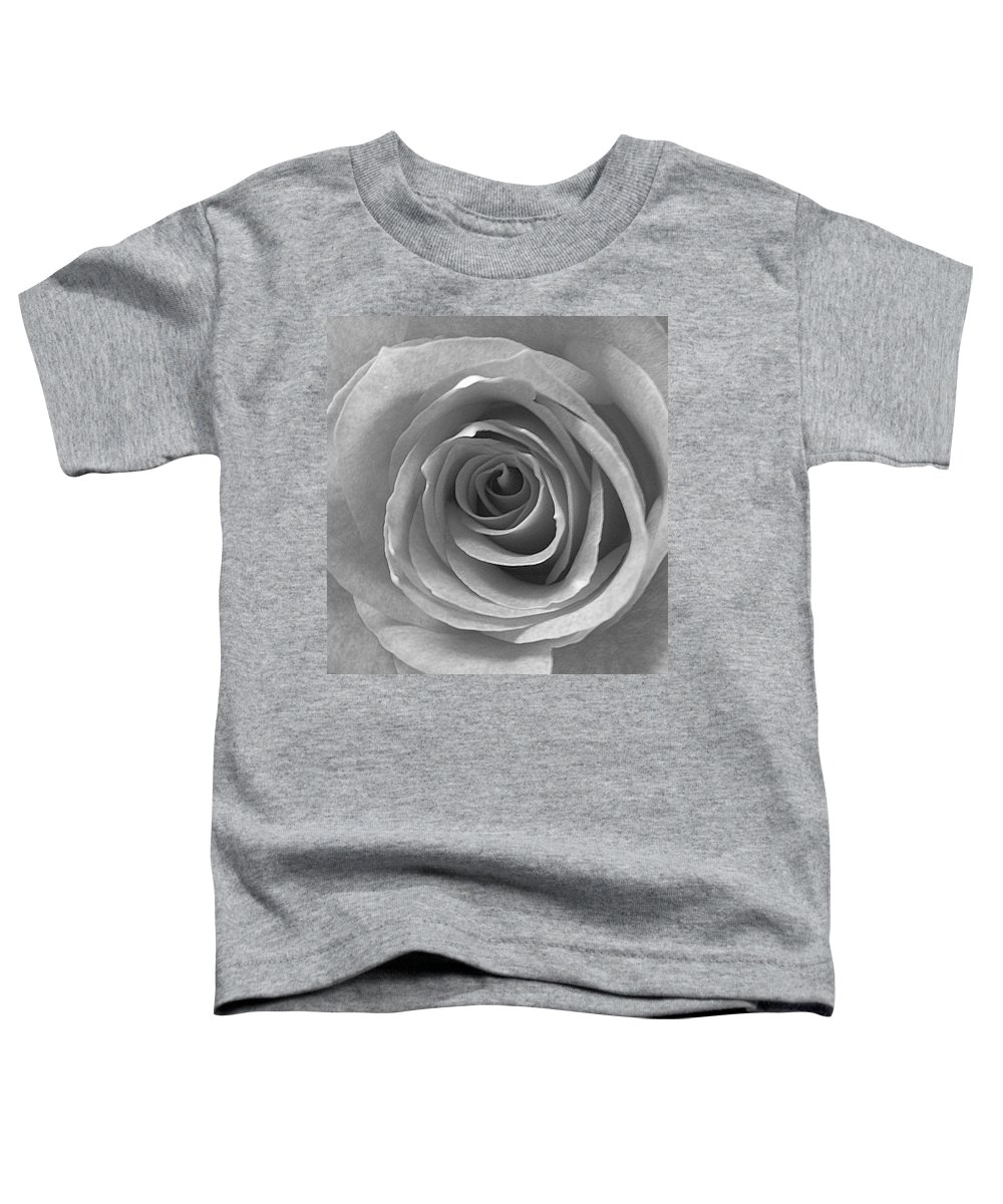 Rose Pedals Toddler T-Shirt featuring the photograph Black And White by Luciana Seymour